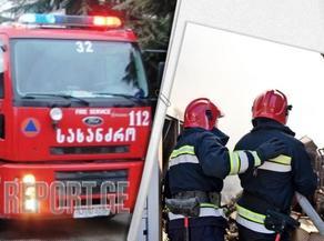 Пожар в жилом корпуса на проспекте Важа-Пшавела локализован