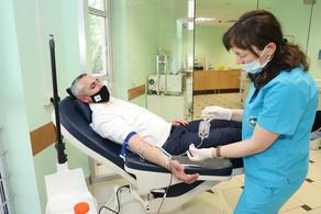 Blood donation event held in Sachkhere medical center