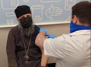 Georgian bishop gets vaccinated
