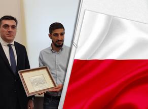 В Польше грузинского спортсмена наградили за проявленный героизм