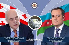 Zalkaliani holds telephone conversation with Azerbaijani counterpart