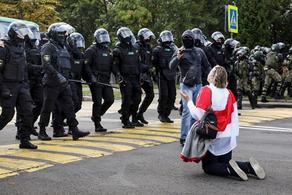 Water cannon, arrests, military hardware in Belarus streets- PHOTO