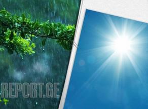 Weather Forecast for today Georgia: Rain in most regions, warm temps