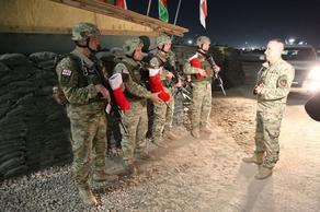 Грузинские миротворцы отметили наступление 2020 года в Афганистане - ФОТО