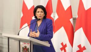Президент поздравила сограждан с Днем независимости Грузии