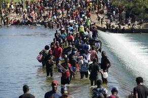 აშშ-მ საზღვართან მისული 10 000-მდე მიგრანტი თავშესაფარში გადაიყვანა