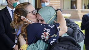A year and a half ago kidnapped Italian woman returns home