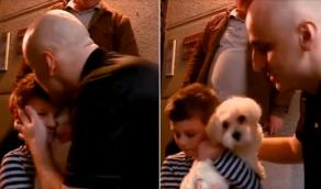 არ გაცივდე, მოვალ ახლა - ნიკა მელიას ემოციური შეხვედრა შვილთან - VIDEO
