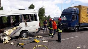 უკრაინაში ავტოავარიისას 9 ადამიანი დაიღუპა