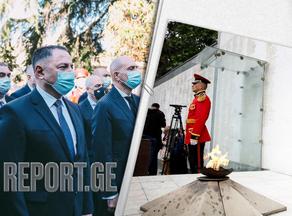 Вахтанг Гомелаури почтил память погибших в борьбе за единство Грузии