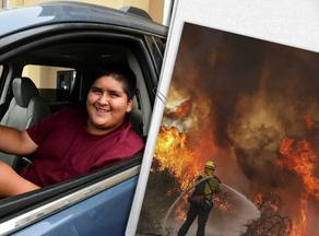 თინეიჯერმა მანქანის მართვა ცეცხლისგან თავის დაღწევის დროს ისწავლა - PHOTO
