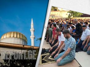 Muslim World celebrates Ramadan Bayram - festive prayer performed at Batumi Mosque