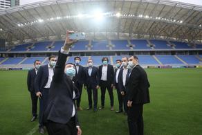 Georgian Dream leaders visit new football stadium