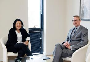 Salome Zurabishvili meets with Carl Hartzell