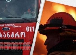 Fire erupts in Rustavi town