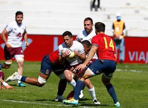 Georgia rugby team defeats Spain 25:19