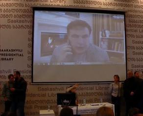 Mikheil Saakashvili opens headquarters