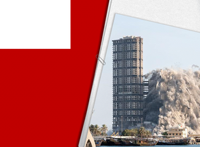 Four skyscrapers blown up in Abu Dhabi - VIDEO