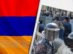 В Армении задержаны 34 участника протестной акции