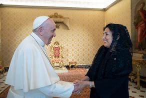 Salome Zurabishvili meets the Pope - PHOTO
