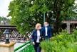 Натия Турнава посетила отреставрированную гостиницу Магнолия в Кутаиси