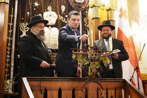 Георгий Гахария поздравил еврейский народ с праздником Хануки