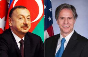 Состоялся телефонным разговор между Ильхамом Алиевым и Энтони Блинкеном