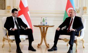 Giorgi Gakharia congratulates Ilham Aliyev on victory of New Azerbaijan in elections