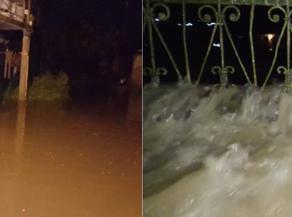 В Абаша затопило жилые дома