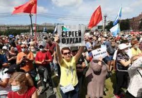 В России проходит акция в поддержку губернатора Фургала