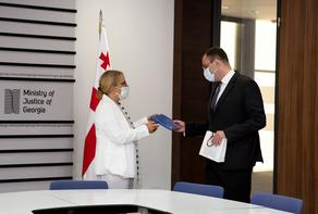 Georgian Justice Minister meets Turkish ambassador