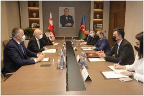 Давид Залкалиани встретился со своим азербайджанским коллегой