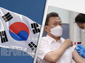 სამხრეთ კორეის პრეზიდენტი Astrazeneca-ს ვაქცინით საჯაროდ აიცრა