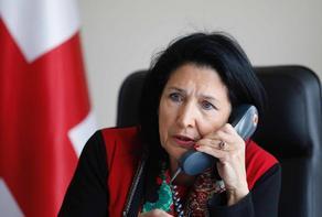 საქართველოსა და უკრაინის პრეზიდენტებს შორის სატელეფონო საუბარი შედგა