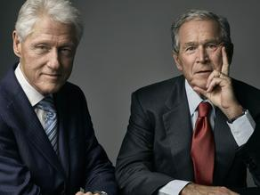 Portraits of Bush and Clinton removed from main hall of White House