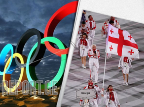 Georgian sports team presented at the opening of the Olympic Games - VIDEO