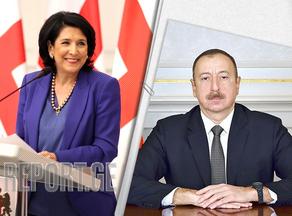 Salome Zurabishvili congratulates Ilham Aliyev on Republic Day