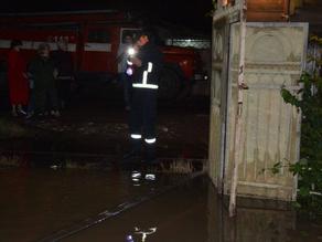 გორში ინტენსიური წვიმის შედეგად რამდენიმე ქუჩა დაიტბორა