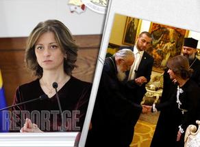 Why did Ekaterine Tikaradze meet the Patriarch?