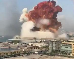 მასშტაბური აფეთქება ბეირუთში  - VIDEO - PHOTO