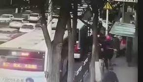 Road collapsed under bus full of passengers - VIDEO