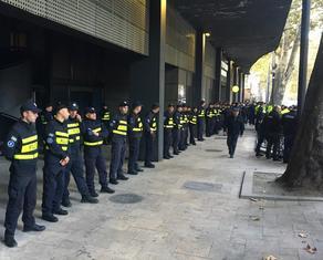 Police gathers at Amirani cinema hall - PHOTO