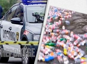 Young man throwing bottles into the river arrested  - VIDEO
