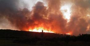 ხანძარი ატენის ხეობაში - სახანძრო ტექნიკა ცეცხლის კერამდე ვერ მიდის