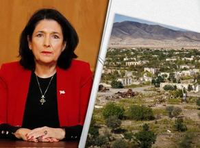 Salome Zurabishvili calls for Karabakh ceasefire