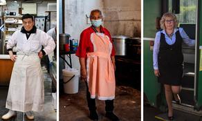 მუშაკები მსოფლიოდან, რომლებიც პანდემიის პირობებში მუშაობენ - PHOTO
