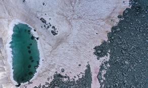 Dangerous pink ice found in Alps - PHOTO