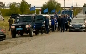Президент Литвы прибыл к линии оккупации