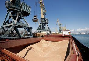 В порт Поти вошел корабль, груженный пшеницей - ВИДЕО