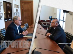 ირაკლი კოვზანაძე ეროვნული ბანკის პრეზიდენტს შეხვდა